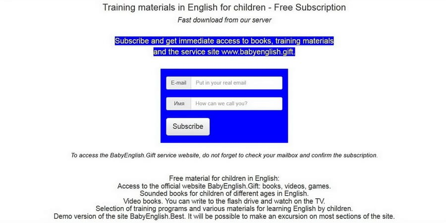 Books and Videos for Children Subscription