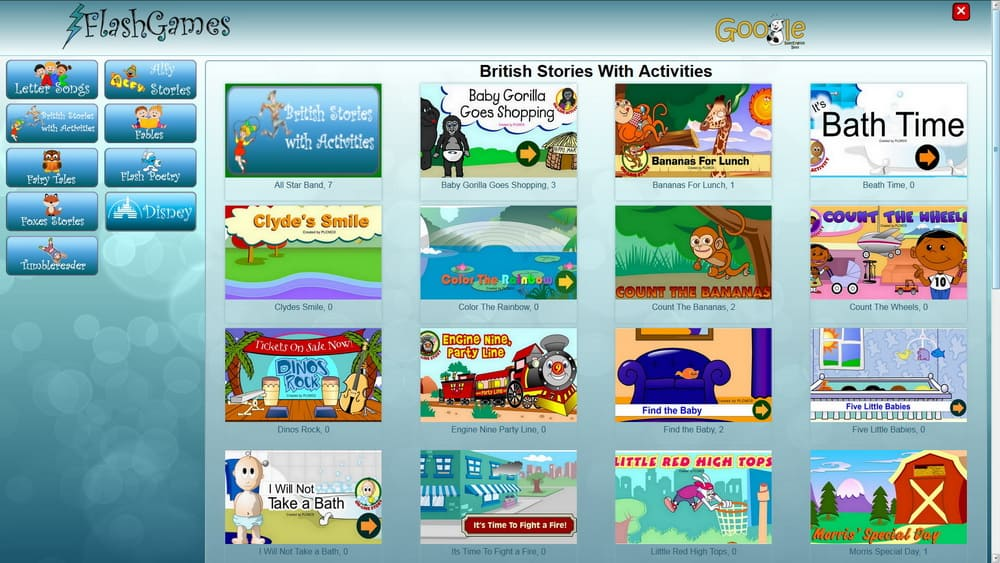 British stories with activities