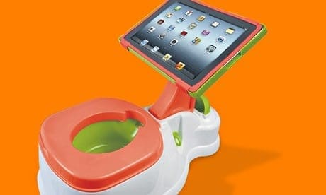 Computer stand for baby's potty