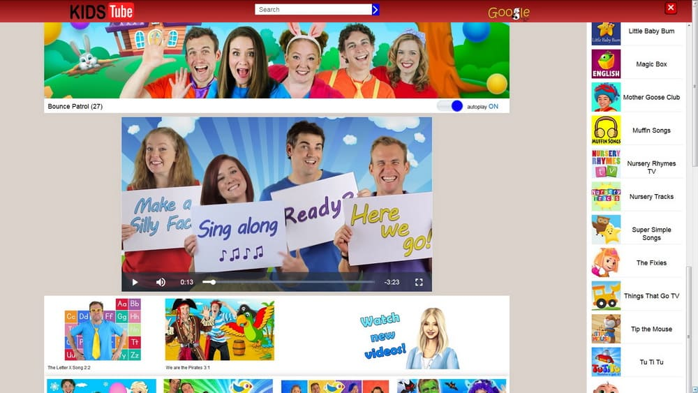 KidsTube channal page