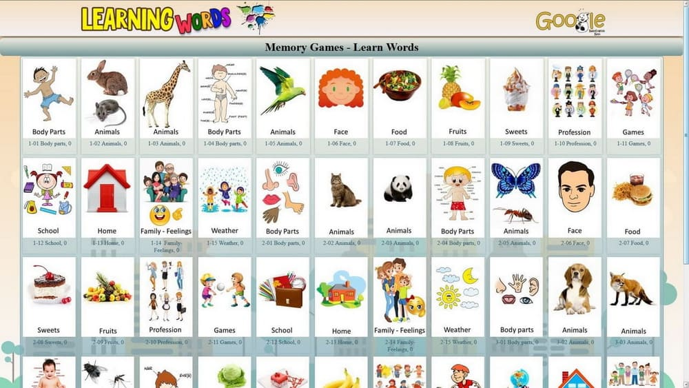 Learning Words games