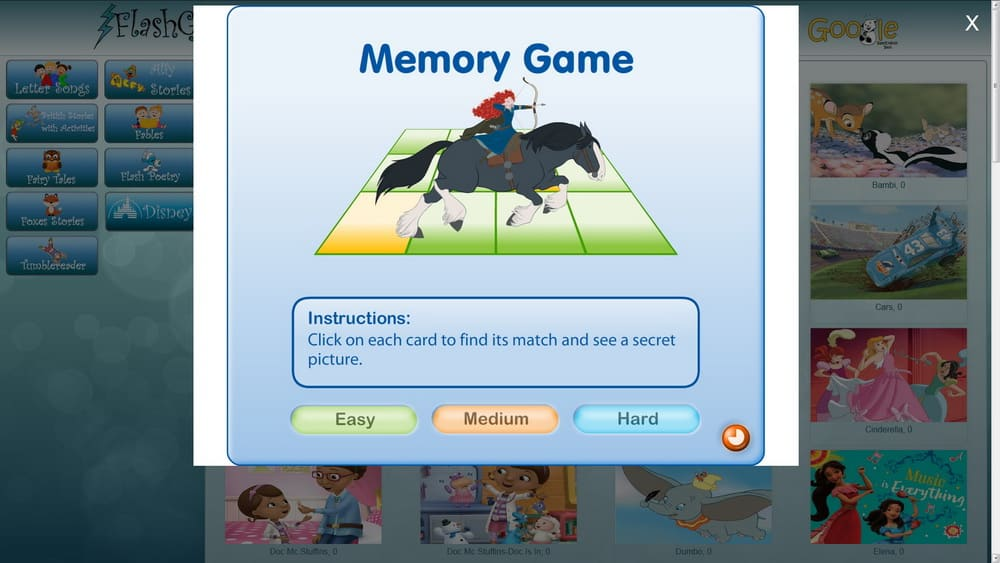 Memory Games for children